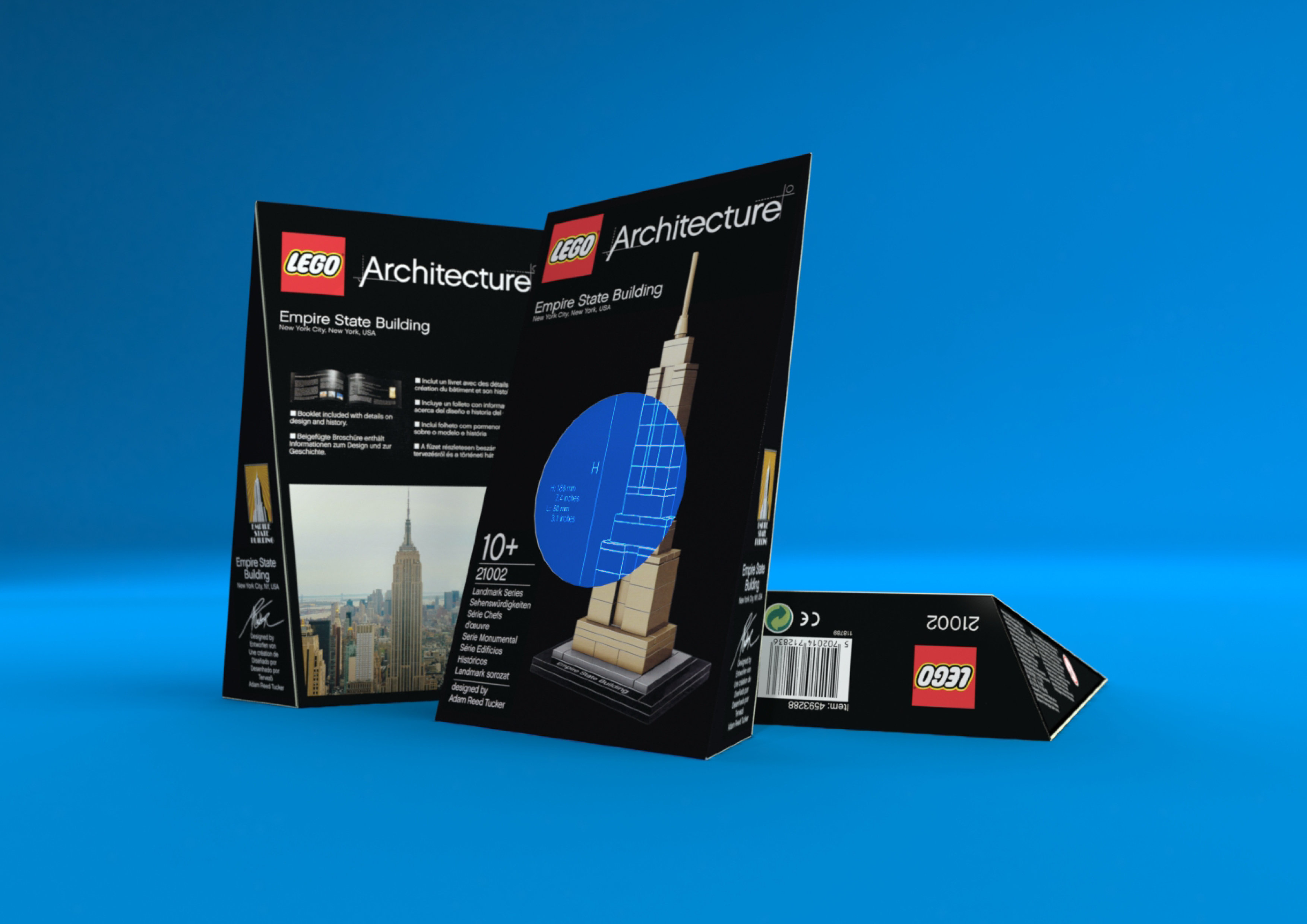 Lego Architecture - Final packaging rendered in KeyShot