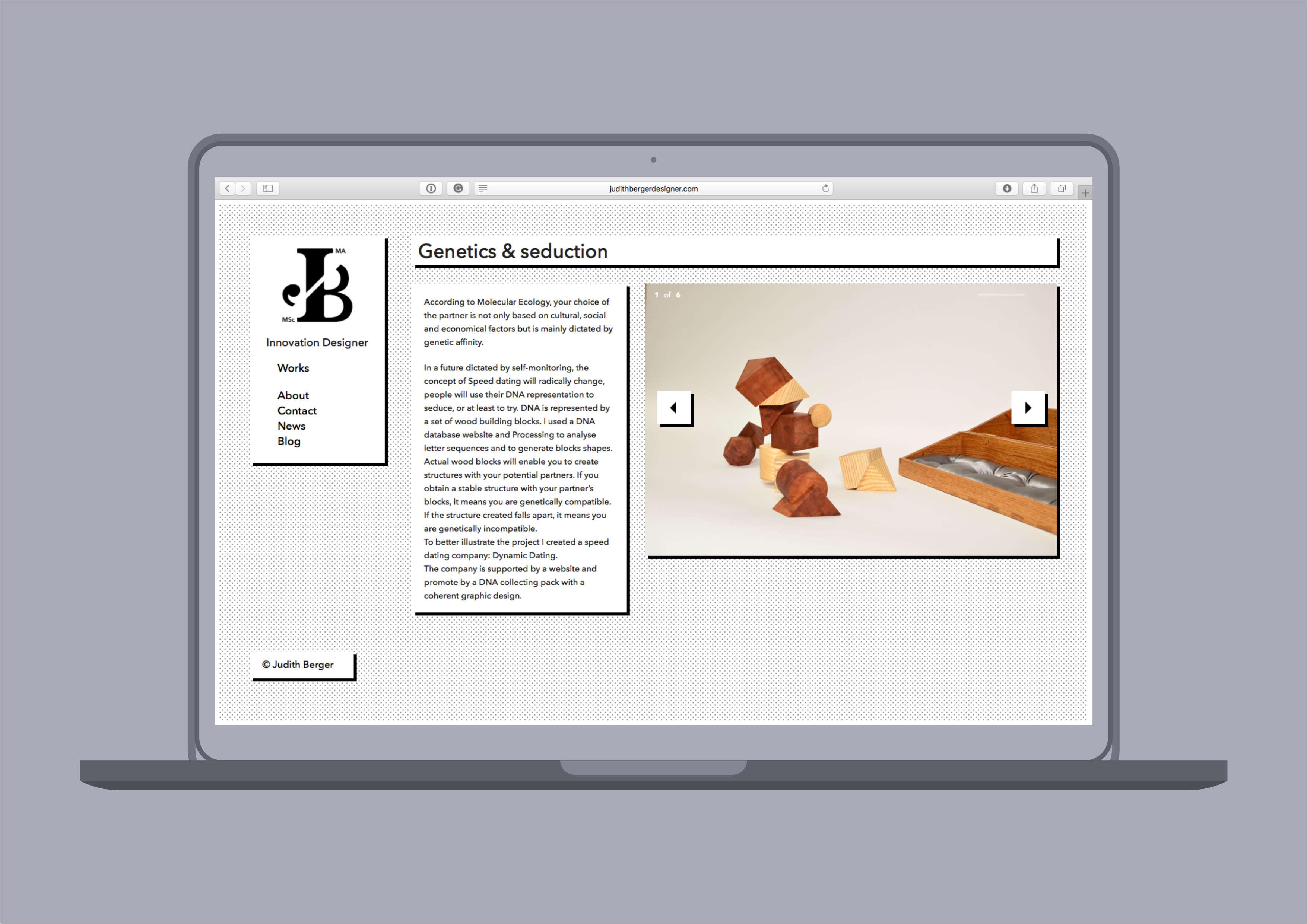 Image of website - Genetic Project
